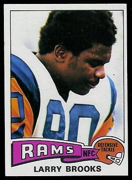 Larry Brooks 1975 Topps football card