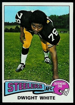 Dwight White 1975 Topps football card