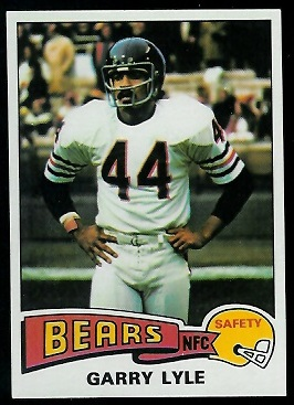 Garry Lyle 1975 Topps football card