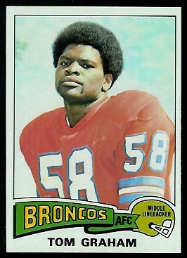 Tom Graham 1975 Topps football card