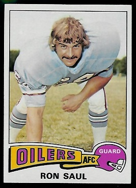 Ron Saul 1975 Topps football card