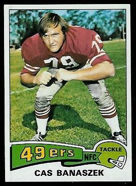 Cas Banaszek 1975 Topps football card