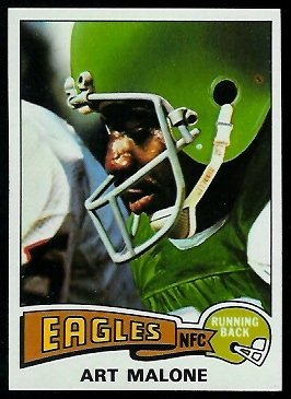 Art Malone 1975 Topps football card