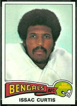 Isaac Curtis 1975 Topps football card