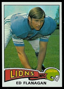 Ed Flanagan 1975 Topps football card