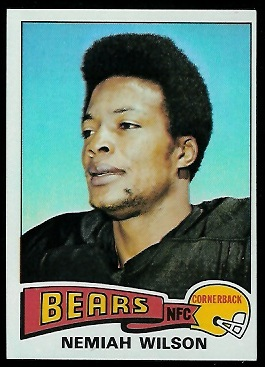 Nemiah Wilson 1975 Topps football card