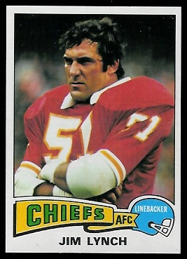 Jim Lynch 1975 Topps football card