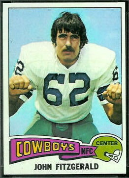 John Fitzgerald 1975 Topps football card