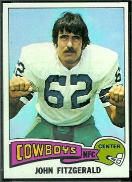 John Fitzgerald 1975 Topps football card