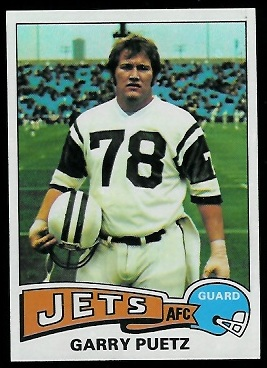 Garry Puetz 1975 Topps football card