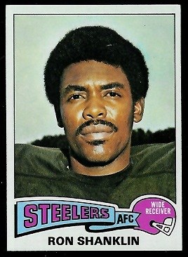 Ron Shanklin 1975 Topps football card