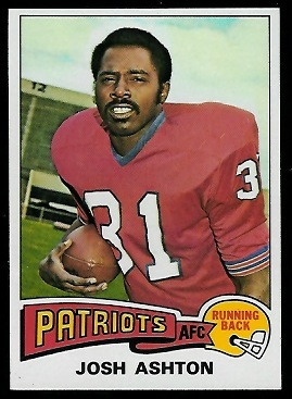 Josh Ashton 1975 Topps football card