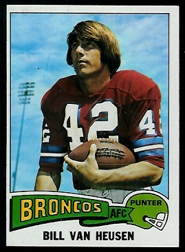 Bill Van Heusen 1975 Topps football card