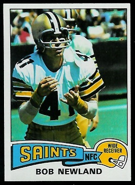 Bob Newland 1975 Topps football card