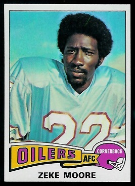 Zeke Moore 1975 Topps football card