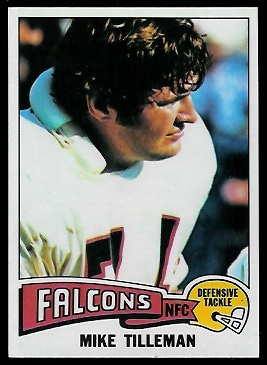Mike Tilleman 1975 Topps football card