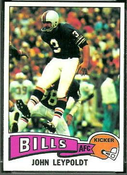 John Leypoldt 1975 Topps football card