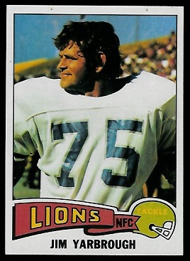 Jim Yarbrough 1975 Topps football card