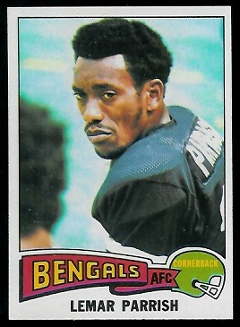 Lemar Parrish 1975 Topps football card