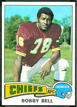 Bobby Bell 1975 Topps football card