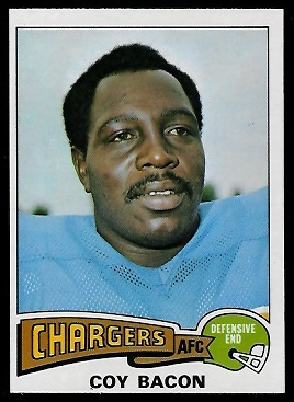 Coy Bacon 1975 Topps football card