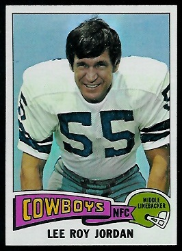Lee Roy Jordan 1975 Topps football card