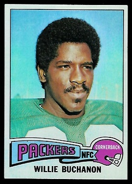 Willie Buchanon 1975 Topps football card