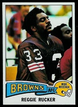 Reggie Rucker 1975 Topps football card