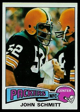 John Schmitt 1975 Topps football card