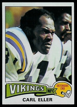 Carl Eller 1975 Topps football card