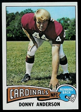 Donny Anderson 1975 Topps football card
