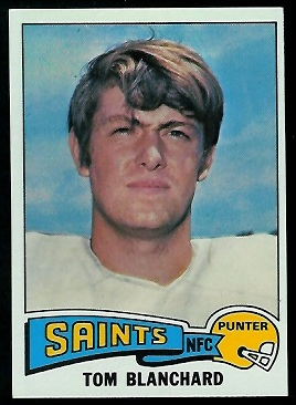 Tom Blanchard 1975 Topps football card