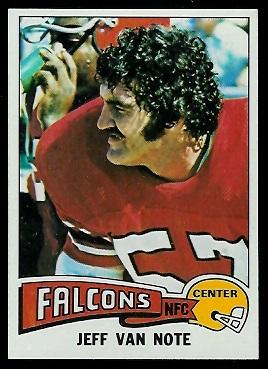 Jeff Van Note 1975 Topps football card