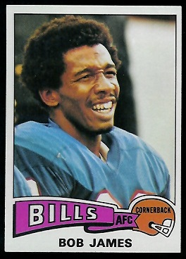 Bob James 1975 Topps football card