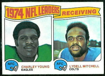 1974 Receiving Leaders 1975 Topps football card