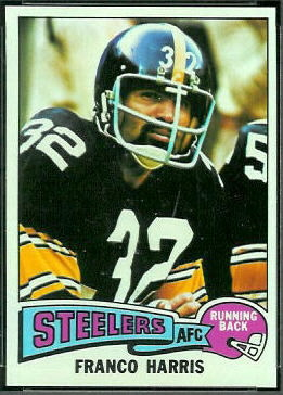 Franco Harris 1975 Topps football card
