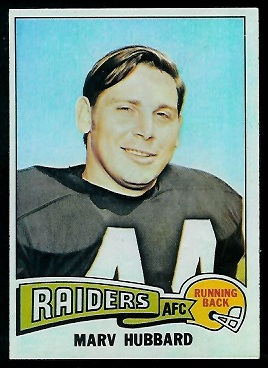 Marv Hubbard 1975 Topps football card