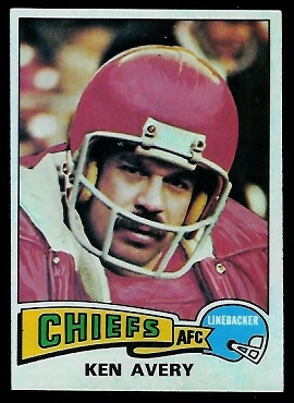 Ken Avery 1975 Topps football card
