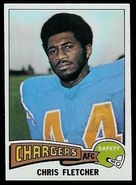 Chris Fletcher 1975 Topps football card