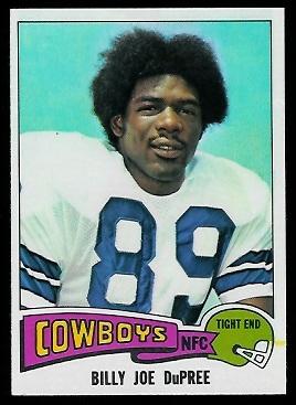 Billy Joe DuPree 1975 Topps football card