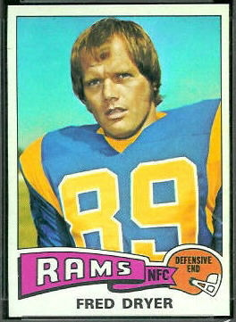 Fred Dryer 1975 Topps football card