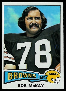 Bob McKay 1975 Topps football card