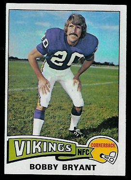 Bobby Bryant 1975 Topps football card