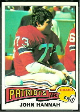 John Hannah 1975 Topps football card
