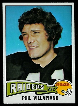 Phil Villapiano 1975 Topps football card