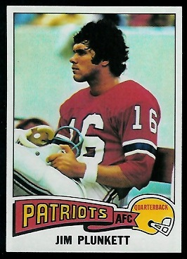 Jim Plunkett 1975 Topps football card
