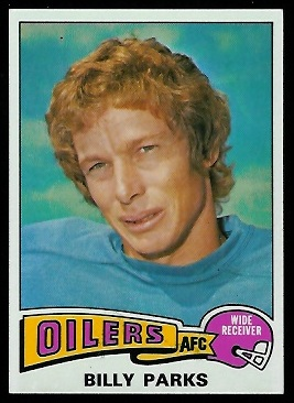 Billy Parks 1975 Topps football card