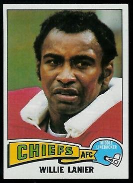 Willie Lanier 1975 Topps football card