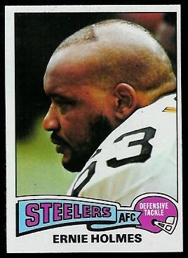 Ernie Holmes 1975 Topps football card