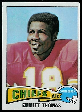 Emmitt Thomas 1975 Topps football card